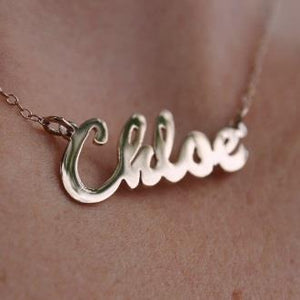 Nameplate Necklace in Chloe Script