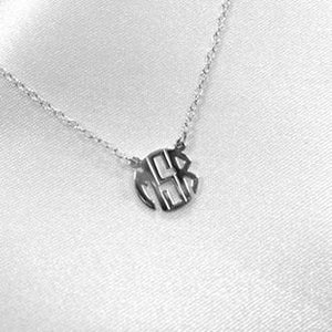 Tiny Monogrammed Necklace