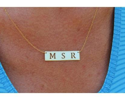 Hand Pierced Nameplate Necklace