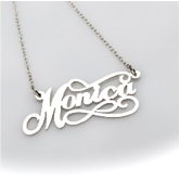 Fancy Script Nameplate Necklace