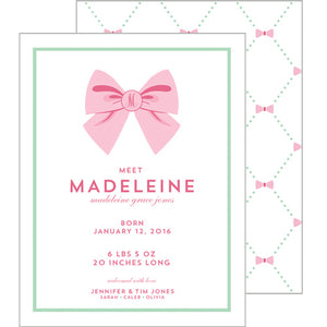 Bow Lattice Birth Announcement