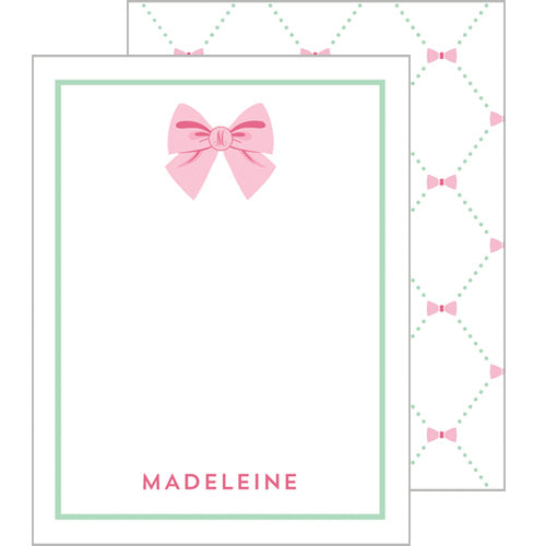 Bow Lattice Flat Notecard