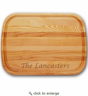 Large Personalized Classic Wood Cutting Board