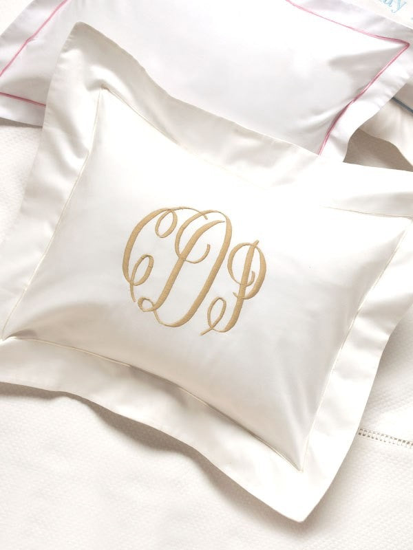 Satin Border Boudoir Pillow