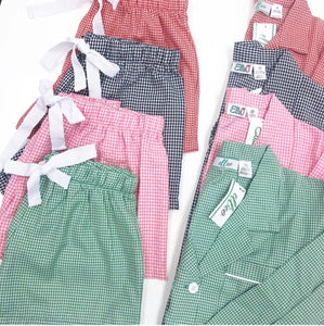 Pink Gingham Pj short Set