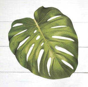 Monstera Leaf Paper Placemats
