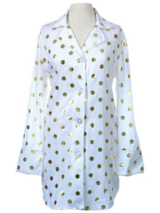 Gold Polka Dot PJ Nightshirt