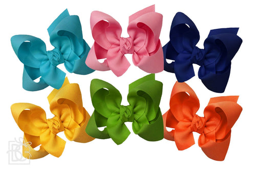 6.5 SIGNATURE GROSGRAIN DOUBLE KNOT BOWS