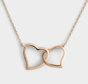 Amazing Mom! Gold Hearts Necklace