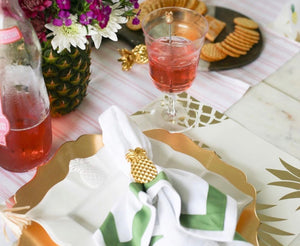 Pineapple Napkin Ring Set