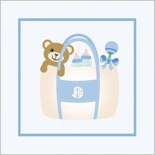 Monogram Tote Gift Sticker
