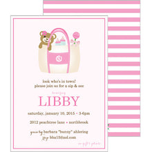 Monogram Tote Invitation