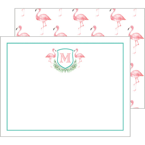 Pink Flamingo Flat Notecard