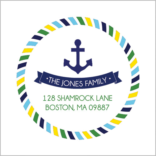 Preppy Anchors Return Address Label