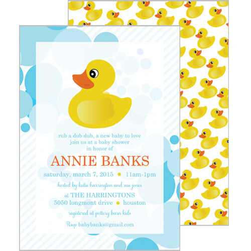 Rubber Ducky Invitation