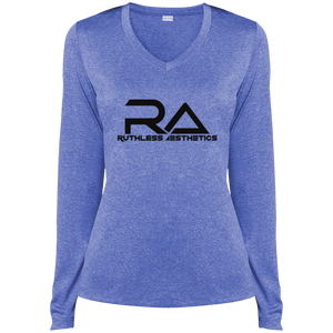 LST360LS RA Ladies' LS Heather Dri-Fit V-Neck T-Shirt
