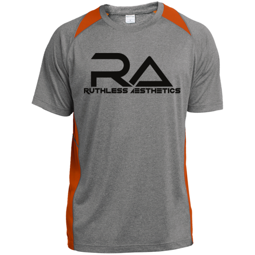 ST361 RA Heather Colorblock Poly T-Shirt