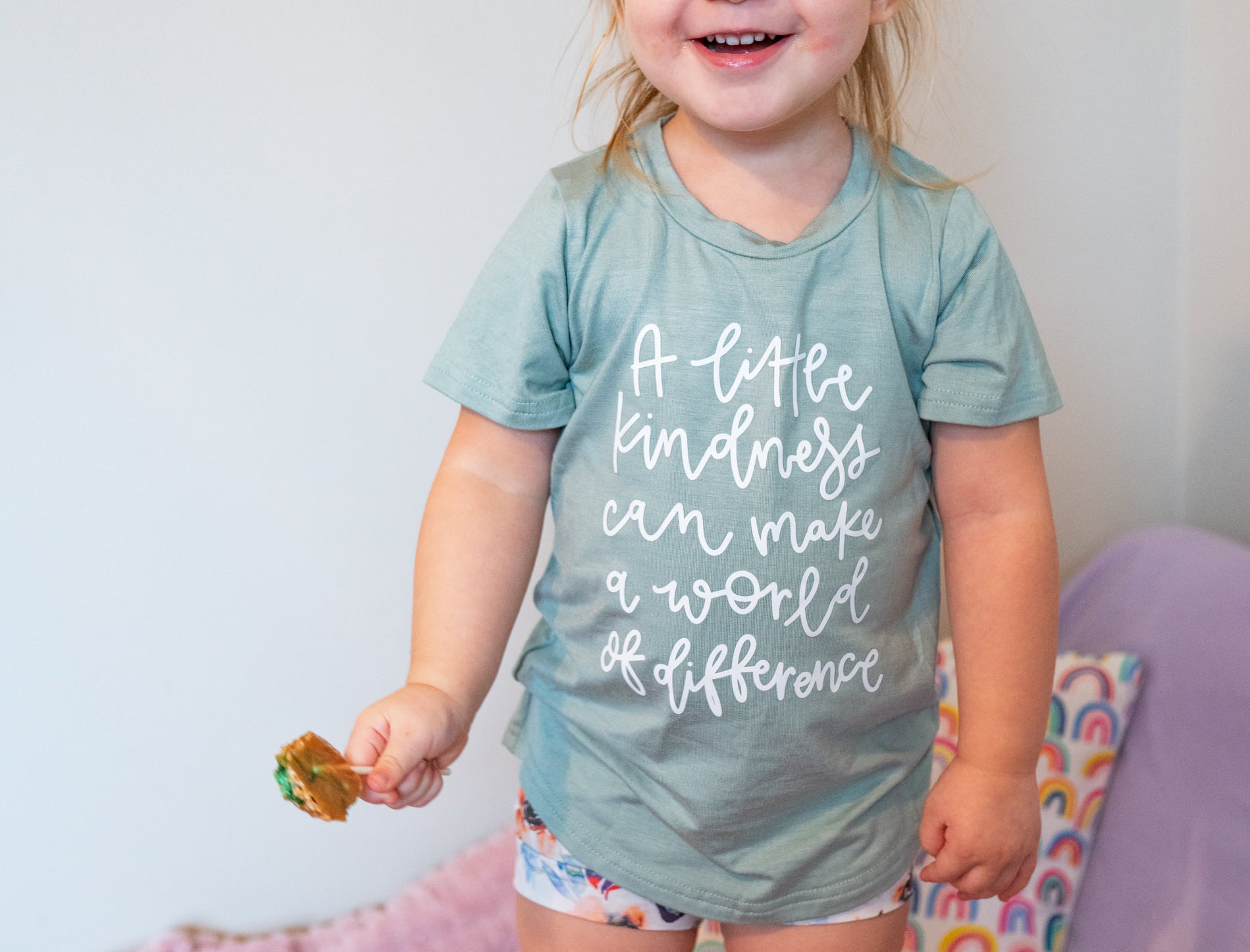 A little kindness-Beach Glass Curved Hem T-shirt