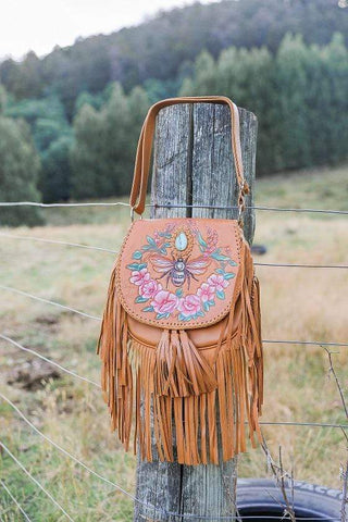 Flamingo Cross Body Bag - Nat/Fringe