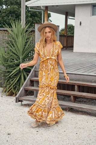 BEACHLEY PRINT TESSA MAXI DRESS