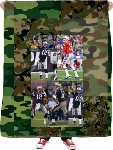 #TOMBRADY #CAMOUFLAGE Blanket  #HOMEDECOR #NFL