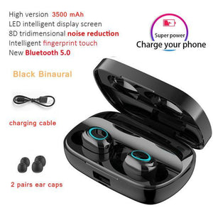 LED Bluetooth Earphones w/ Stereo Wireless Earphones & Cases Millennials Merchandise S11 Dual Ear B