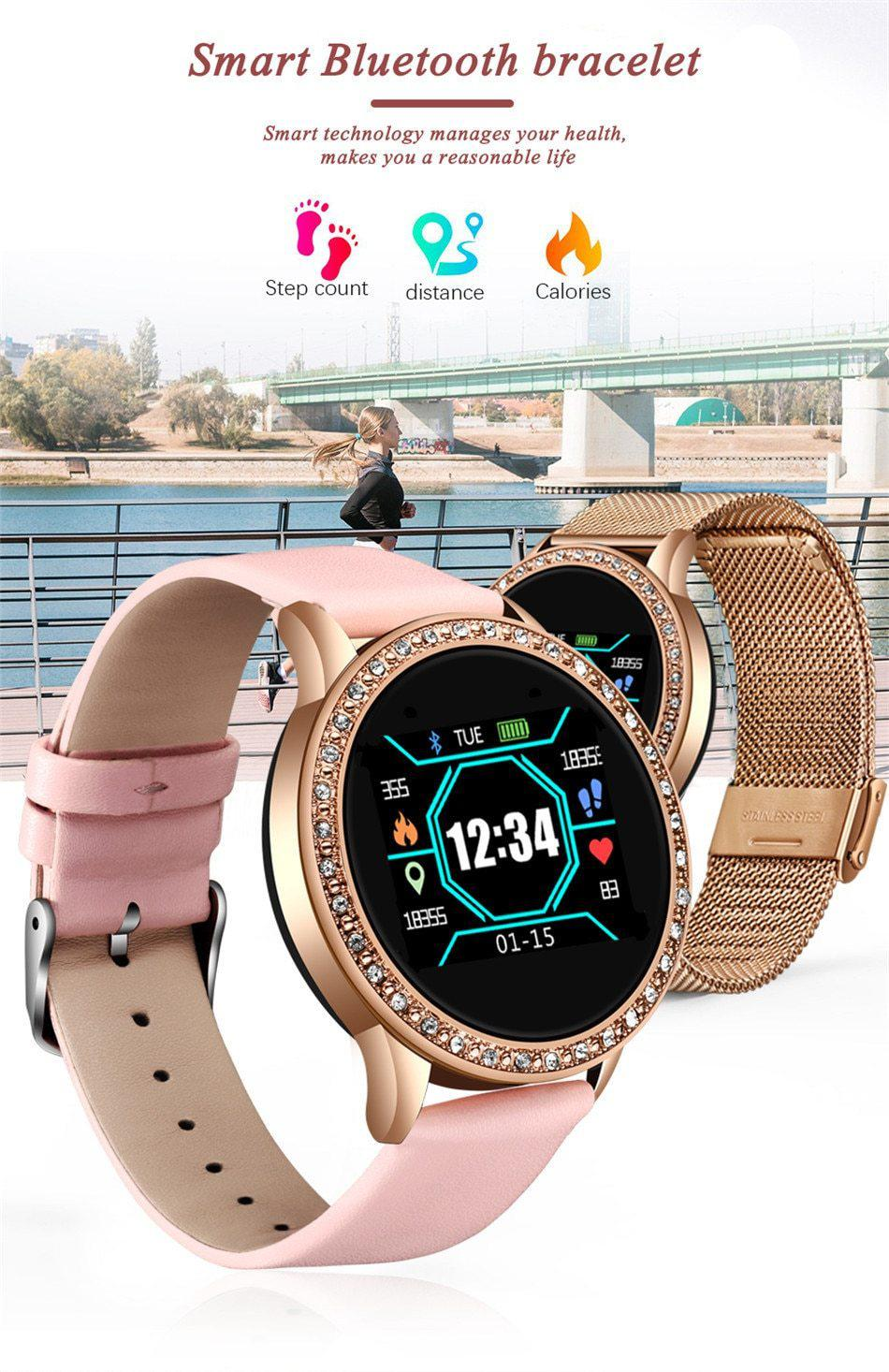 Fashion Stainless Steel Smart Watch - Millennials Merchandise