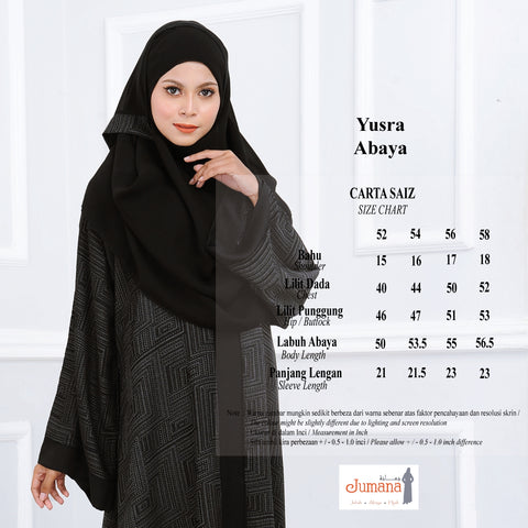 Jumana exclusive black abaya jubah hitam