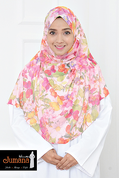 Shawl Spring Garden - Light Peach