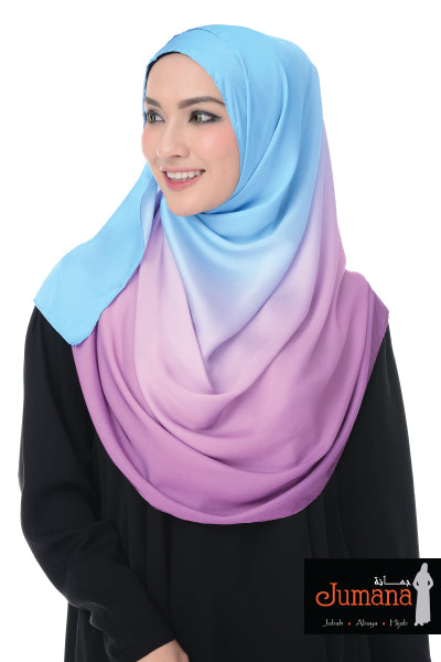 Shawl Rainbow - Blue Purple