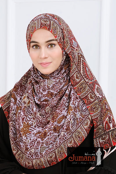 Shawl ALHAMBRA - Brick Brown