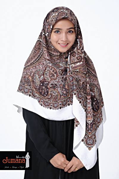 Square Hijab ZMB 05 - Brown