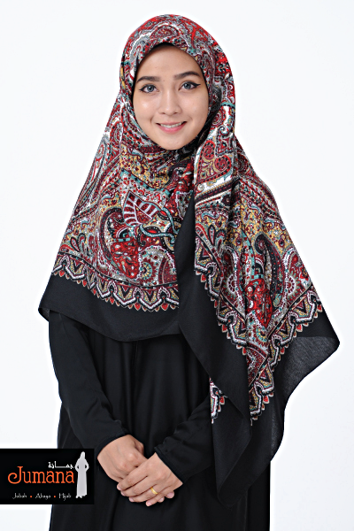 Square Hijab ZMB 06 - Red