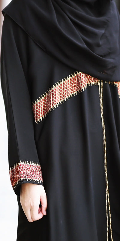 Abaya Diamond Red