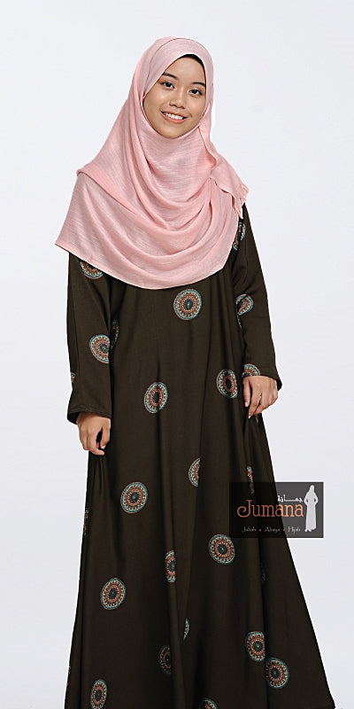Abaya Zahira Dark Brown