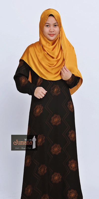 Abaya ZZ Flower Brown