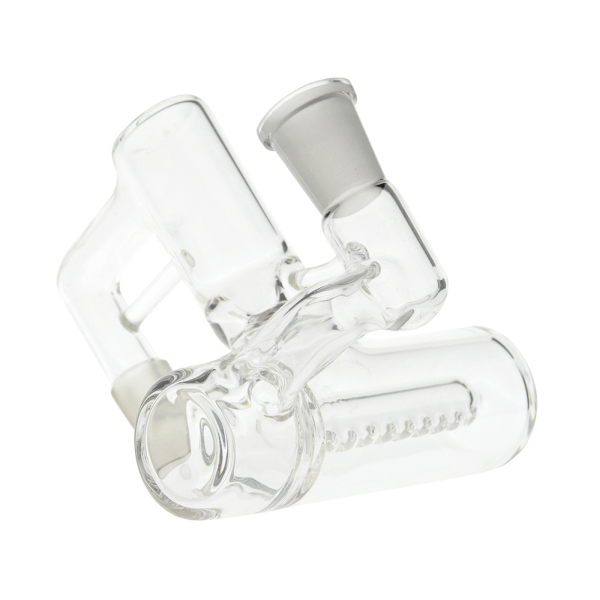 Glass Ash Catcher With Inline Diffuser 90 Degree 14.5mm Joint