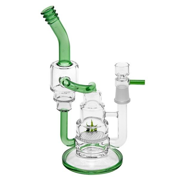 Black Leaf Double Tube Bubbler with Recycler