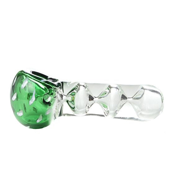 Green Tornado Glass Spoon Pipe