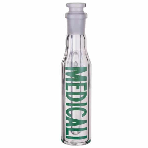 Medicali Glass Ash Catcher Green Logo 14mm