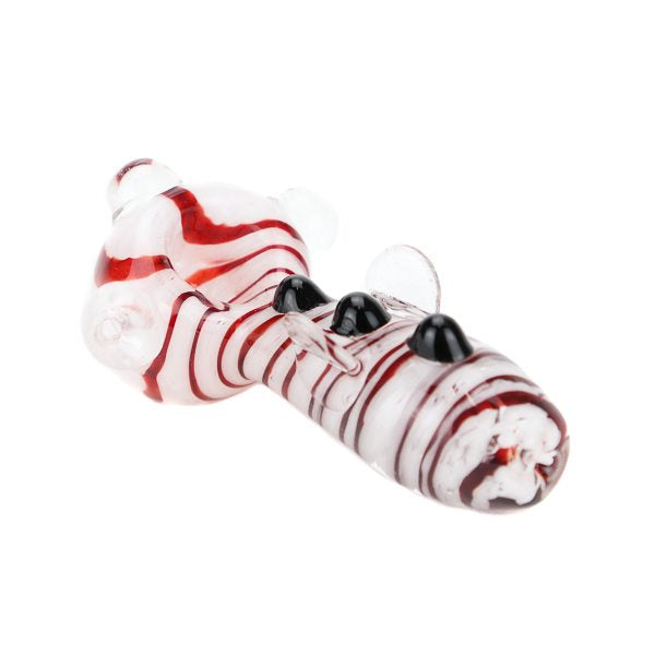Peppermint Swirl Glass Pipe