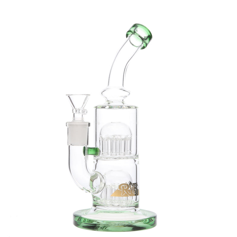 RB Glass Dual Tree Perc Bong