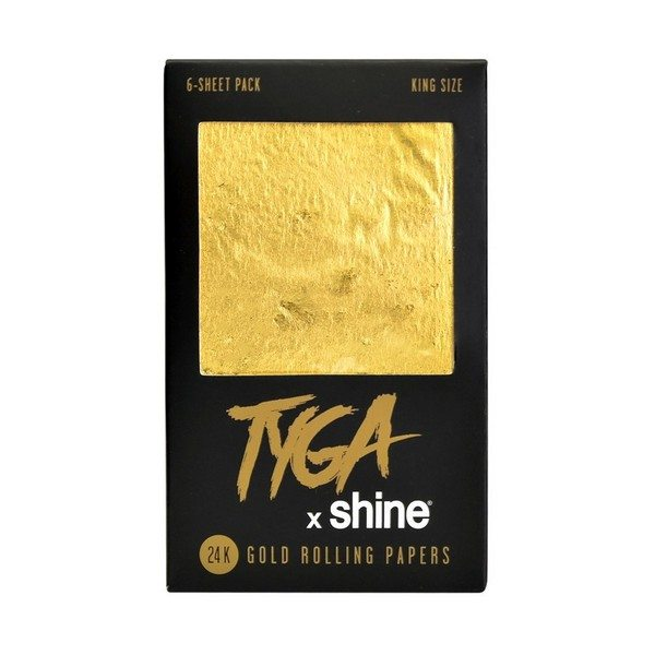 Shine 24k King Size Rolling Papers (6 Pack)