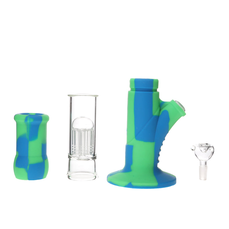 Silicone Tree Perc Straight Tube Bong