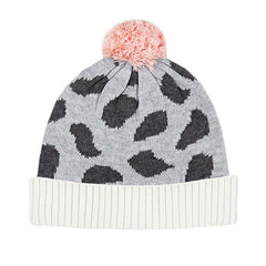 Acorn Spot On Knit Beanie in Grey