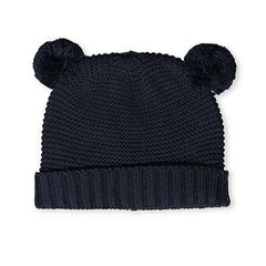 Milky Knit Beanie in Midnight Blue