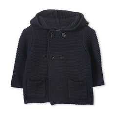 Milky Navy Knit Jacket