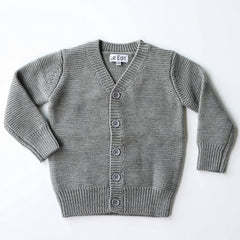 Le Edit Grey Merino Cardigan