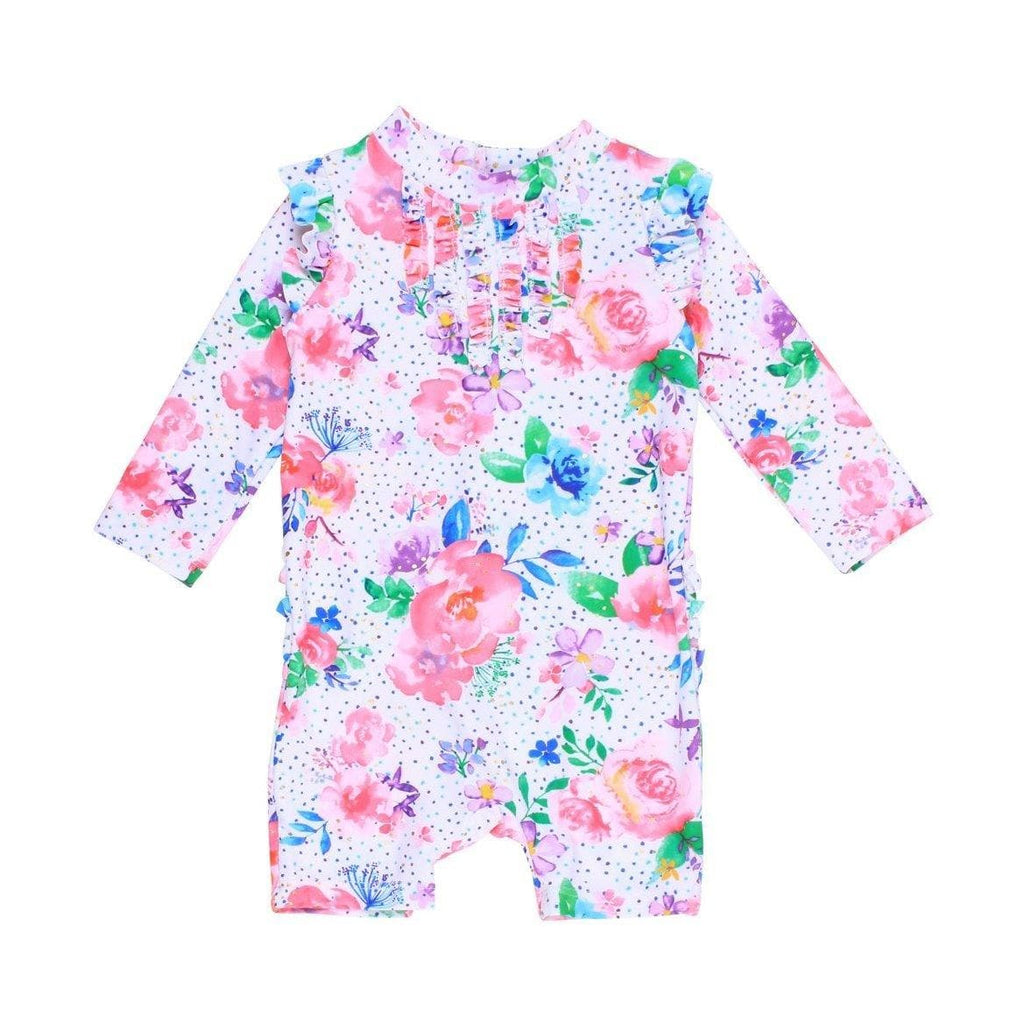 Bebe Becca Long Sleeve Frill Sunsuit