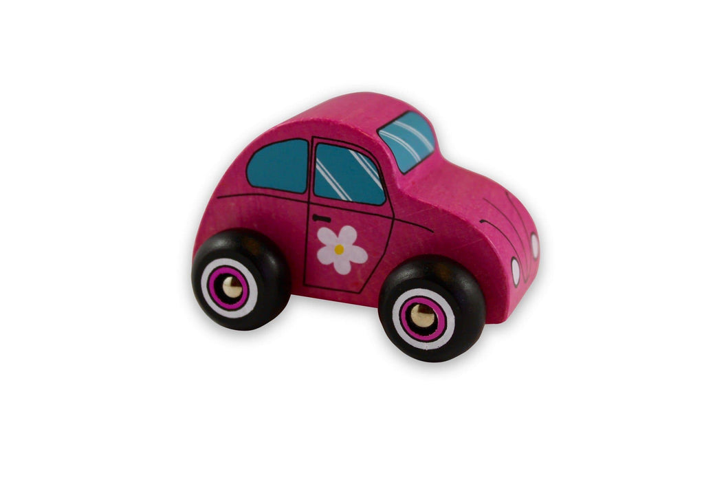 Discoveroo Pink Wooden Beach Car Toys Discoveroo
